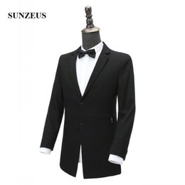 Wholesale Fit Suite - Groom Wear for Men's Wedding Party Tuxedos Black Suits with Two Buttons Back Vent ternos masculino ( Suite +Pants