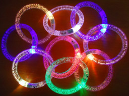 Wholesale Christmas Led Lights Blinking - Wholesale --light up toys Led flashing blinking bracelet for Christmas party decoration for free ship