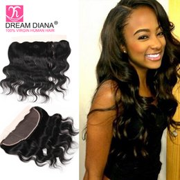 Wholesale Cheap Brazilian Lace Closures - Cheap Brazilian Virgin Hair With Closure Lace Frontal 13x4 Free Part Body Wave Lace Closure Ear To Ear Human Hair Full Lace Frontal Closure