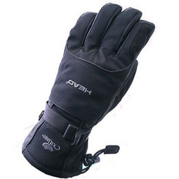 Wholesale thermal ski - Wholesale-Free Shipping Professional head all-weather waterproof thermal skiing gloves for men Motorcycle winter waterproof sports outdoor