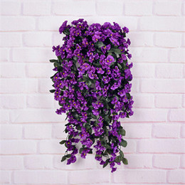 Wholesale Glory Flower - wholesale 2015 aritificial real touch silk flower 6 color mix Morning glory flower hang basket weeding home decoration