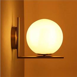Wholesale Michael Glasses - Replica Item 2017 New lights IC LIGHTS C W Lighting IC light family LED Ball Globe Michael Anastassiades Frosted glass Wall lamp