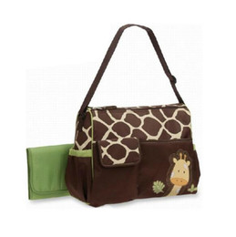 Wholesale multifunction diaper bags - 4 Styless Animal Diaper Bags Cute Zebra Strength Giraffe Mummy Bags Babyboom High Capacity Multifunction Bags Baby Nappy Bag CCA8028 30pcs