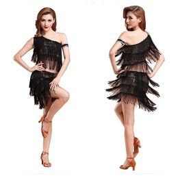 Wholesale Plus Size Latin Dresses - 2015 High Quality Professional Latin Salsa Tango Rumba Cha Cha Ballroom Dance Dress Mini Dress Plus Size L XL XXL