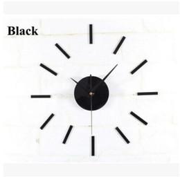 Wholesale Mechanism Wall Clock - Black Quartz Wall Clock Movement Mechanism 3 White Hands DIY Repair Parts Kit Free Shipping, dandys