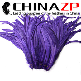 Wholesale Christmas Costume Cheap - Leading Supplier CHINAZP Crafts Factory Cheap Wholesale 30~35cm(12~14inch) 1000pcs lot Colorful Dyed Royal Purple Rooster Tail Feathers