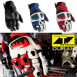 Wholesale Rs Racing - 2015 the latest version of the Japanese RS-TAICHI RST400 leather motorcycle gloves Moto racing gloves motorbike gloves size M L XL