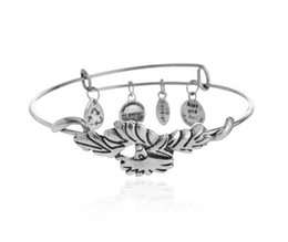 Wholesale Alex Ani Feather - 2015 European and American style retro hot Alex and Ani charm bracelets Phoenix Feather Phoenix Feather EH222