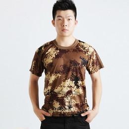 2019 roupa do camo camisetas Atacado-Homens Mulheres Verão Camo Tático Do Exército T-Shirt T Shirt Tops Vestuário Elegante roupa do camo camisetas barato
