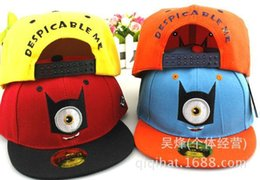 Wholesale Despicable Cosplay Minions Hat - 2015 new Despicable Me Simple eye Hat Minion Plush Hats Jorge Dave Stewart Cosplay Cap Despicable Plush Hat snapback hats