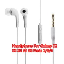 Wholesale S3 Cell Phone - Top Quality Headphone Earphone Handsfree with Mic Earphone For SAMSUNG GALAXY S2 S3 S4 S5 S6 Note2 3 4 headphone fone de ouvido DHL Free