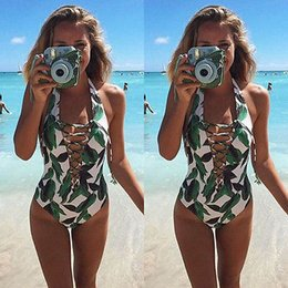 Wholesale Russia Dress - Wholesale- GLANE Brief 2017 Hot New Women One-Piece Swimsuit Beachwear Swimwear push up monokini bikini Bathing Summer Beach dress Russia