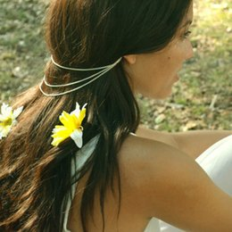 Wholesale Ear Cuff Band - trade fashion jewelry new simple 2 with a multi-beam chain tassel ear hair clip hair band hair accessories