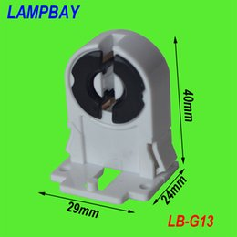 Wholesale Tombstone Wholesalers - (100 pieces lot) Free Shipping G13 holder two pins tombstone T8 lamp bases