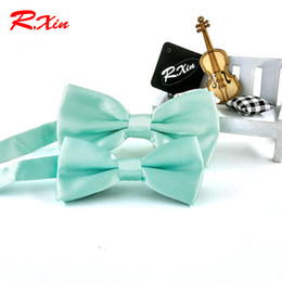 Wholesale Mint Ties - Wholesale- New Fashion Mint Green bow ties Men Wedding Party bowtie butterfly Cravat the groom tie Corbatas kids children boys bow tie