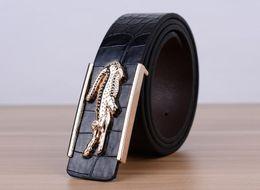 Wholesale Leather White Wide Belt - holesale!! 2016 New High-grade PU Leather MEN Brand Belt Blue Wide Waist Belt Male Luxury Belt 109cm Strap