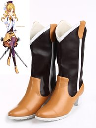 Wholesale Puella Magi Madoka - Wholesale-High quality Anime Puella Magi Madoka Magica Tomoe Mami Cosplay Boots Shoes