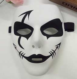 Wholesale square mask - a56 PVC street dance mask with environmentally friendly material hand-painted hip-hop maskes graffiti mask square mask spot