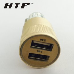 Wholesale Wholesalers Blackberry Phones China - 2015 China best selling mobile phone dual usb car charger usb output 3.1A metal case fast charger