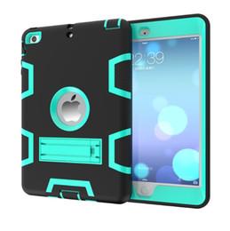 Lüks Hibrid Ağır Silikon Kauçuk Tablet Hard Case Kapak Için iPad Mini 1 2 3 Darbeye Koruyucu Kılıfları Cilt nereden ipad mini kauçuk cilt tedarikçiler