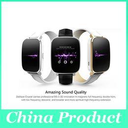 "Wholesale Wrist Watch Original Straps - Original Zeblaze Crystal Curved 1.54"" IPS 3D screen Smart Watch MTK2502 Real Heart rate Bluetooth 4.0 Genuine Leather Strap 010246"