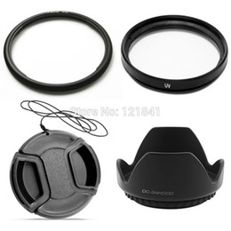 Wholesale 58mm Metal Hood - 100% Guarantee Accessory 58mm Lens Cap +58mm UV +58 lens hood +58mm Metal Filter Adapter Ring FA-DC58C For Canon G1X Camera