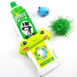 Wholesale Toothpastes Tube Holder - hot 1pc Toothpaste Tube Squeezer Easy Squeeze Paste Cartoon Frog Animal Dispenser Roll Holder Worldwide FreeShipping