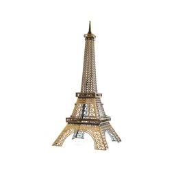 Wholesale 3d Puzzles Paris - Paris Eiffel Tower 3D Metal Puzzle Model Colorful Assembly Earth Model Kits Laser Cut Toy Jigsaw Artwork DIY Building Block Gift for Adults