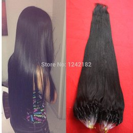 Wholesale Micro Ring Remy Hair Extensions - Hot Sale Micro Loop Ring Hair Extension Indian Hair Micro Ring Hair Extensions 1.0 gram Indian Remy Hair 10-26 Inch