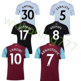 Wholesale West Home - Top Thai 2017 2018 West Ham United home soccer jersey 17 18 FEGHOULI CARROLL SAKHO AYEW PAYET West Ham Away 3rd football shirt
