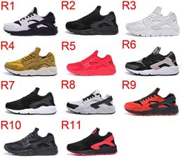 Wholesale Barefoot Trainers - New Air Barefoot Huarache 1 Women & Men Running Shoes Run I Trainer Jogging Zapatos Size 36-45 Eur