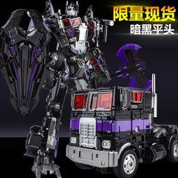Wholesale Transformation Truck - Cool Boy Toys KBB Deformation confinement Transformation toy car Robots 32cm Black Apple Truck