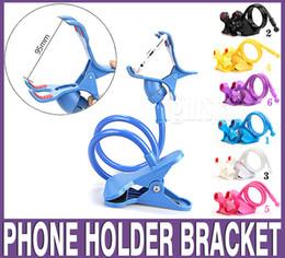 Wholesale Long Arm Lighting - 85 cm Long Arm Universal one Clips Moblie Phone Holder Bed Desktop Moblie Stand 80 cm Flexible Extendable Lazy Bracket 360 degree
