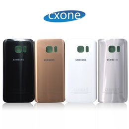 Wholesale Replacement Back - OEM Quality Replacement Battery Back Door Housing Glass Cover For Samsung S7 S7 edge G9300 G9350 with Adhesive Sticker