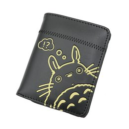 Billetera totoro online-Más de 10 tipos Tonari no Totoro Anime Bolso de PU Monedero con botones Black Totoro de My Neighbor para elegir como regalo