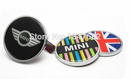 Wholesale Cooper Union - Car styling 10PCS LOT Union Jack Front Grill Emblem Badge FOR MINI COOPER CLUBMAN JWC COUNTRYMAN