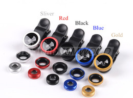 Wholesale Cheap Fishing Wholesale - 3 in 1 Universal Clip Fish Eye Wide Angle Macro Phone Fisheye Lens For iPhone Samsung Cheap Price+ Best Glass Lens Quality