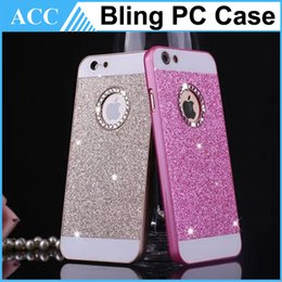 Wholesale Galaxy S4 Diamond Cases - Bling Diamond Glitter Powder Hard Case For iPhone5S 6 6 Plus Galaxy S4 S5 S6 A3 A5 A7 Note3 4 Back Cover 100pcs