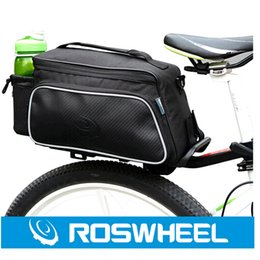 Wholesale Trunk Bag Panniers Waterproof - Roswheel Fashion Practical Bicycle Trunk Pannier Bike Rear Carrier Bag Pack Impact Resistance and Tear-resistant Black