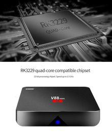 Wholesale Cheap 3d Tvs - Android 7.1 V88 tv boxe Cheapest RK3229 Quad-Core 1GB 8GB Smart Tv Box WiFi 3D HDMI TV Cheap Set-top Box Media Player