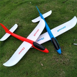 Wholesale Throwing Flying Toys - 48cm EPP Throw Plane Educational Kids Toys Flying Toys Hand Launch Free Fly Glider Plane Model Hand throw Without Battery