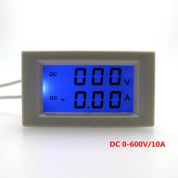 Wholesale Voltmeter Lcd - 1pcs DC 0-600V DC 0-10A Voltage Ampere Meter LCD Display Digital Voltmeter Ammeter Power Supply DC 3-40V No Need Shunt