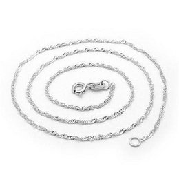 Wholesale Platinum Solitaire - Necklace For Women Men Snake Chain 16 18inch New 925 Sterling Silver White Brass Plated Platinum Long Chain Necklaces