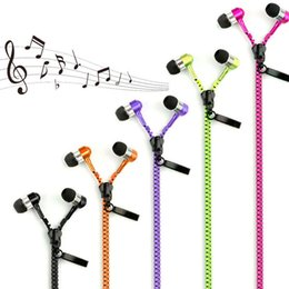 Wholesale apple iphone promotion - Promotion Zipper Headset 3.5mm Stereo Music Headphones Jack Bass Earphone With Mic For iPhone 6G 6 Plus 5S Samsung S6 S5 Note3
