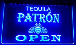 Wholesale Open Signs Light - LS005 Patron Tequila Beer OPEN Bar Neon Light Sign