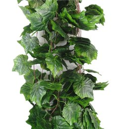 Wholesale Wholesale Greenery - Artificial Greenery Chain Ivy Grape Leave Vine Foliage Wedding Garland Decor
