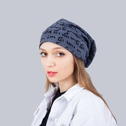 Wholesale Kpop Sale - New Unisex Womens Mens Knit Baggy Beanie Word Kpop Winter Classic Hats Couples Matching Hats Cool Beanies Hats Hip Hop Warm Slouchy Cap Sale