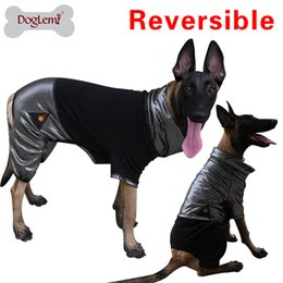 Wholesale Dogs Jumpsuit Fleece - Doglemi HeatPaw Heat Reflective Reversible Fleece Large Dog Jumpsuit Pet Jumper
