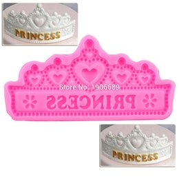 Moldes de corona online-Hot NEW Princess Crown Moldes de Pastel de Silicona Wedding Cake Border Fondant Herramientas de decoración de Pasteles Cupcake Moldes de Chocolate