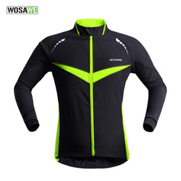 Wholesale Running Sports Jacket - Wholesale-2015 New Professional Thermal Cycling Jacket Winter Running Sport Jacket Men Women High Quality WOSAWE 2 Colors BC266